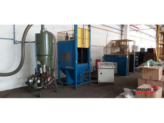 Linie de sablare interioară și aplicarea stratului termoplastic